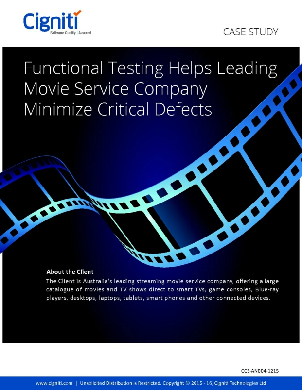 Functional Testing Helps Leading Movie Service Company Minimize Critical Defects